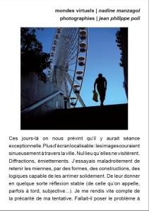 Photo Jean Philippe Poli - Texte : Nadine Manzagol